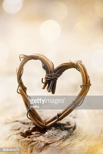 Willow heart : Stock Photo