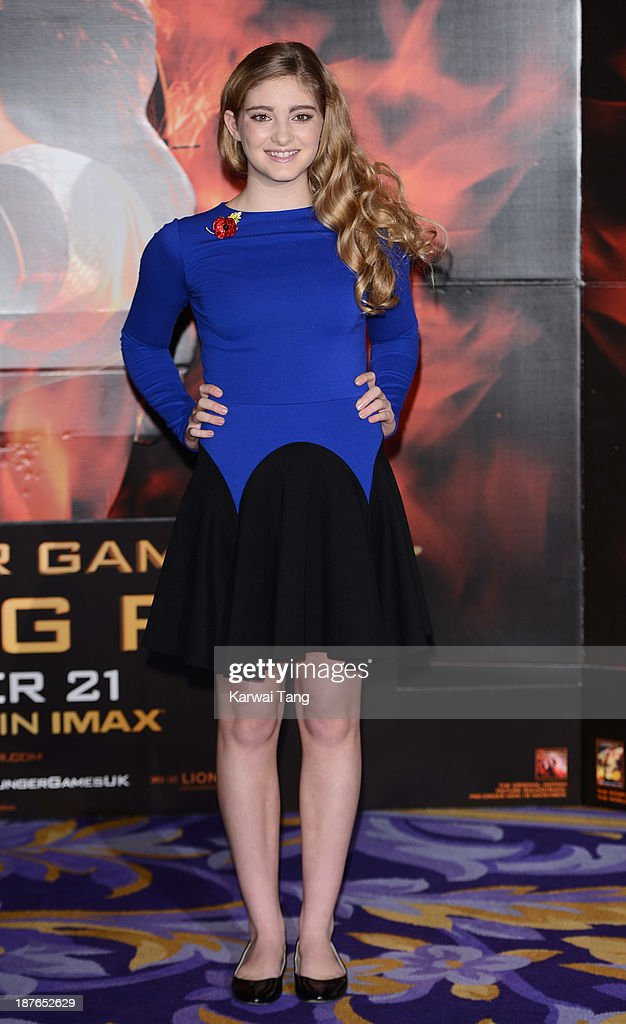 Willow Shields attends a photocall for 'The Hunger Games: Catching Fire' held at the Corinthia Hotel on November 11, 2013 in London, England.