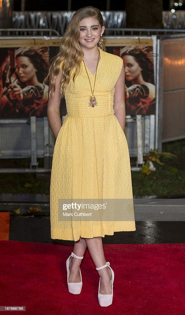 Willow Shields attends the UK Premiere of 'The Hunger Games: Catching Fire' at Odeon Leicester Square on November 11, 2013 in London, England.