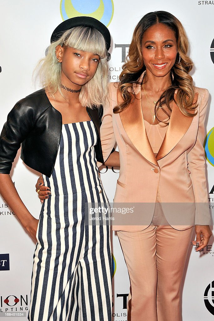 Willow Smith and Jada Pinkett Smith arrive at the Coalition To Abolish Slavery and Trafficking's 15th Annual From Slavery to Freedom gala at the Sofitel Hotel on May 9, 2013 in Los Angeles, California.