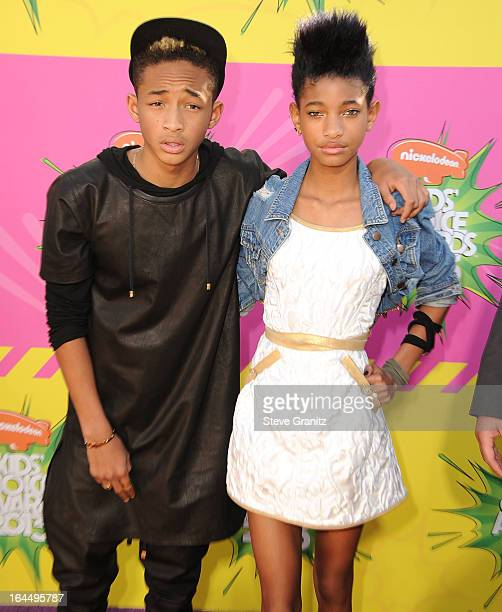 Willow Smith and Jaden Smith arrives at the Nickelodeon's 26th Annual Kids' Choice Awards at USC Galen Center on March 23 2013 in Los Angeles...