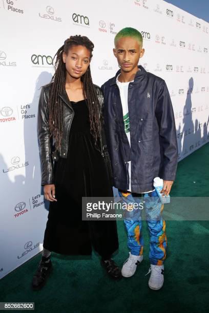 Willow Smith and Jaden Smith at the Environmental Media Association's 27th Annual EMA Awards at Barkar Hangar on September 23 2017 in Santa Monica...