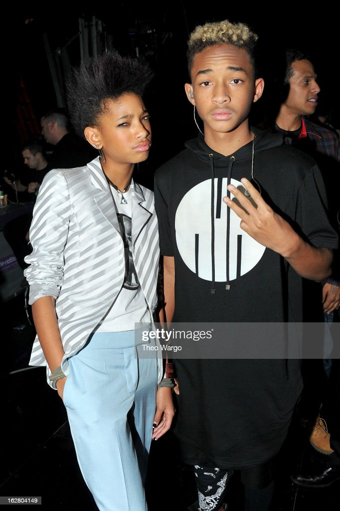 <a gi-track='captionPersonalityLinkClicked' href=/galleries/search?phrase=Willow+Smith&family=editorial&specificpeople=869488 ng-click='$event.stopPropagation()'>Willow Smith</a> and <a gi-track='captionPersonalityLinkClicked' href=/galleries/search?phrase=Jaden+Smith&family=editorial&specificpeople=709174 ng-click='$event.stopPropagation()'>Jaden Smith</a> attend BET's Rip The Runway 2013:Backstage Hammerstein Ballroom on February 27, 2013 in New York City.