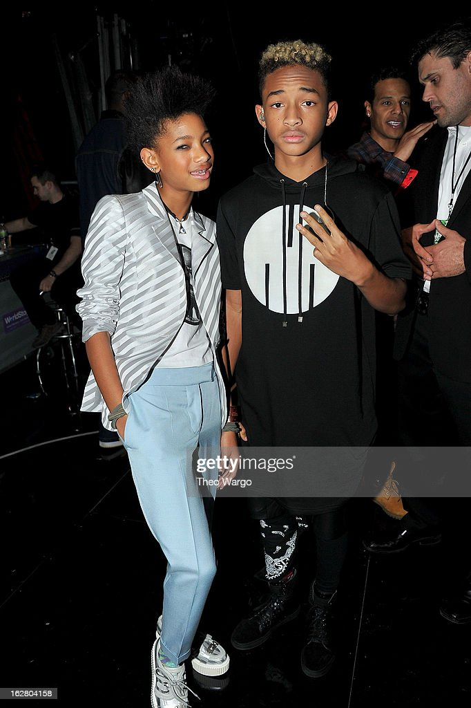 Willow Smith and Jaden Smith attend BET's Rip The Runway 2013:Backstage Hammerstein Ballroom on February 27, 2013 in New York City.