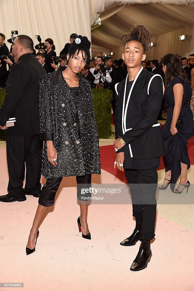 Willow Smith and Jaden Smith attend 'Manus x Machina: Fashion In An Age Of Technology' Costume Institute Gala at Metropolitan Museum of Art on May 2, 2016 in New York City.