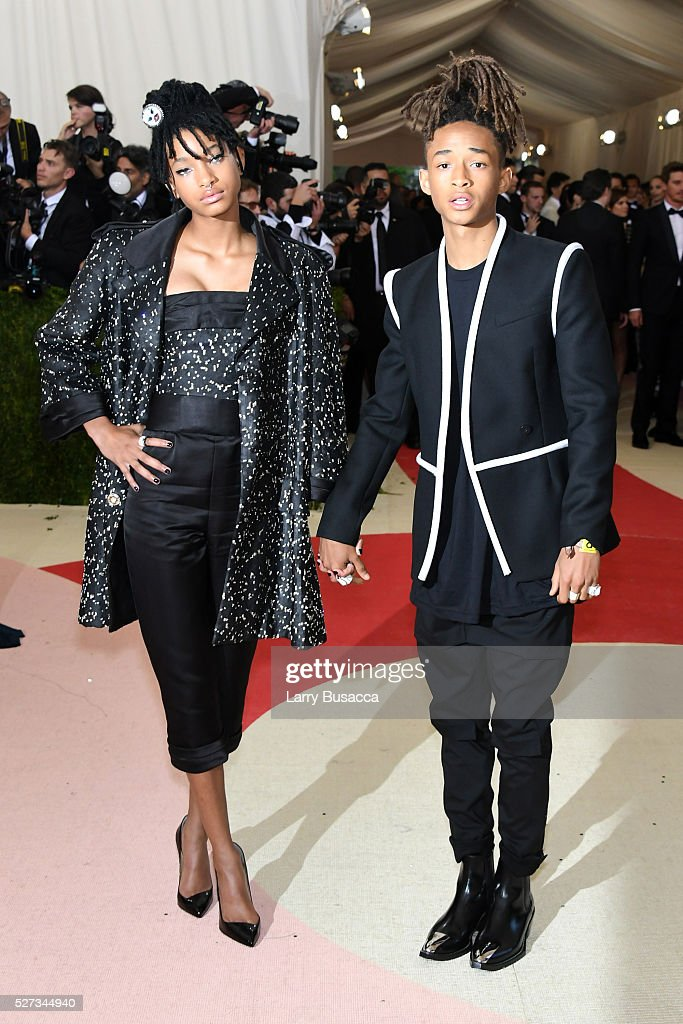 Willow Smith (L) and Jaden Smith attend the 'Manus x Machina: Fashion In An Age Of Technology' Costume Institute Gala at Metropolitan Museum of Art on May 2, 2016 in New York City.