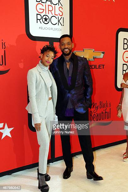 Willow Smith and Will Smith attend Black Girls Rock 2015 at NJ Performing Arts Center on March 28 in Newark New Jersey