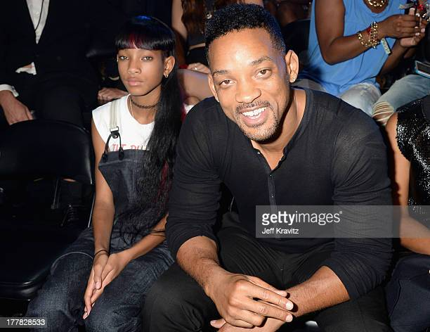 Willow Smith and Will Smith attend the 2013 MTV Video Music Awards at the Barclays Center on August 25 2013 in the Brooklyn borough of New York City