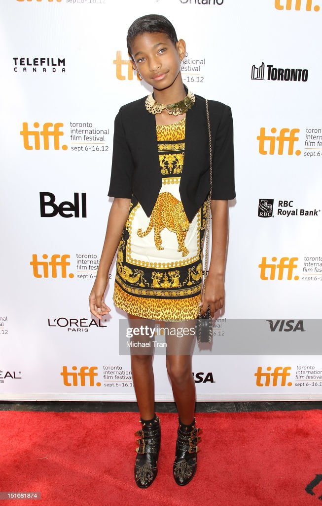<a gi-track='captionPersonalityLinkClicked' href=/galleries/search?phrase=Willow+Smith&family=editorial&specificpeople=869488 ng-click='$event.stopPropagation()'>Willow Smith</a> arrives at 'Free Angela & All Political Prisoners' premiere during the 2012 Toronto International Film Festival held at Roy Thomson Hall on September 9, 2012 in Toronto, Canada.