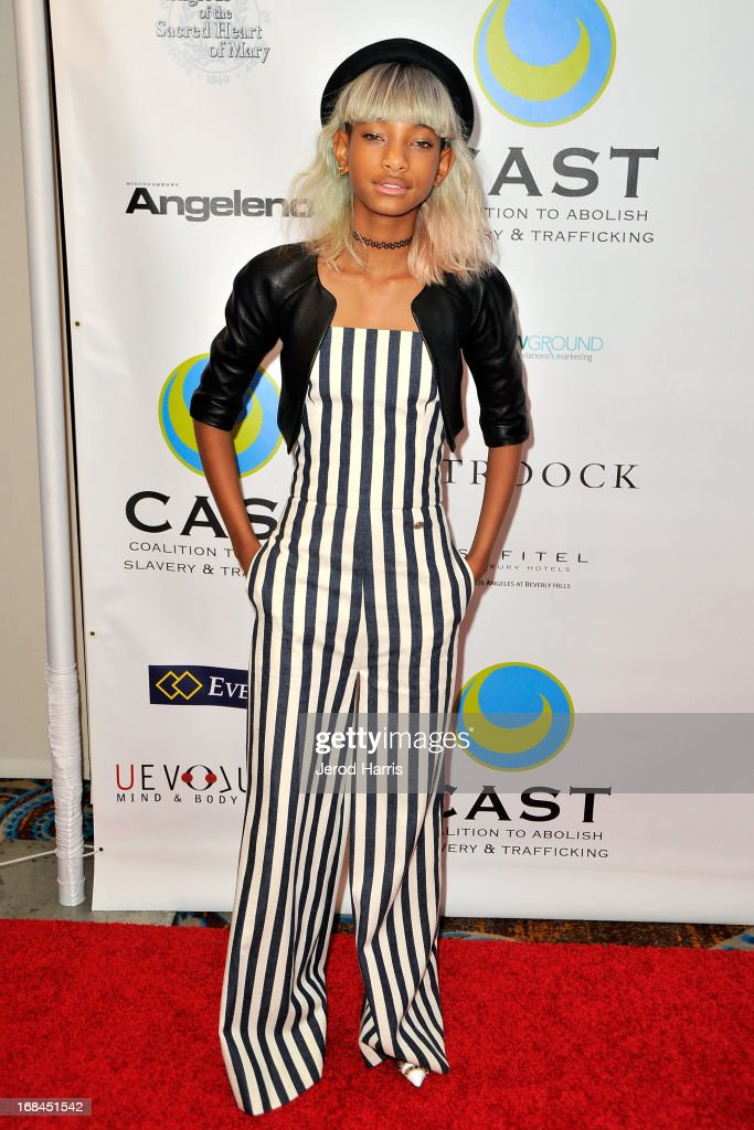 <a gi-track='captionPersonalityLinkClicked' href=/galleries/search?phrase=Willow+Smith&family=editorial&specificpeople=869488 ng-click='$event.stopPropagation()'>Willow Smith</a> arrives at the Coalition To Abolish Slavery and Trafficking's 15th Annual From Slavery to Freedom gala at the Sofitel Hotel on May 9, 2013 in Los Angeles, California.