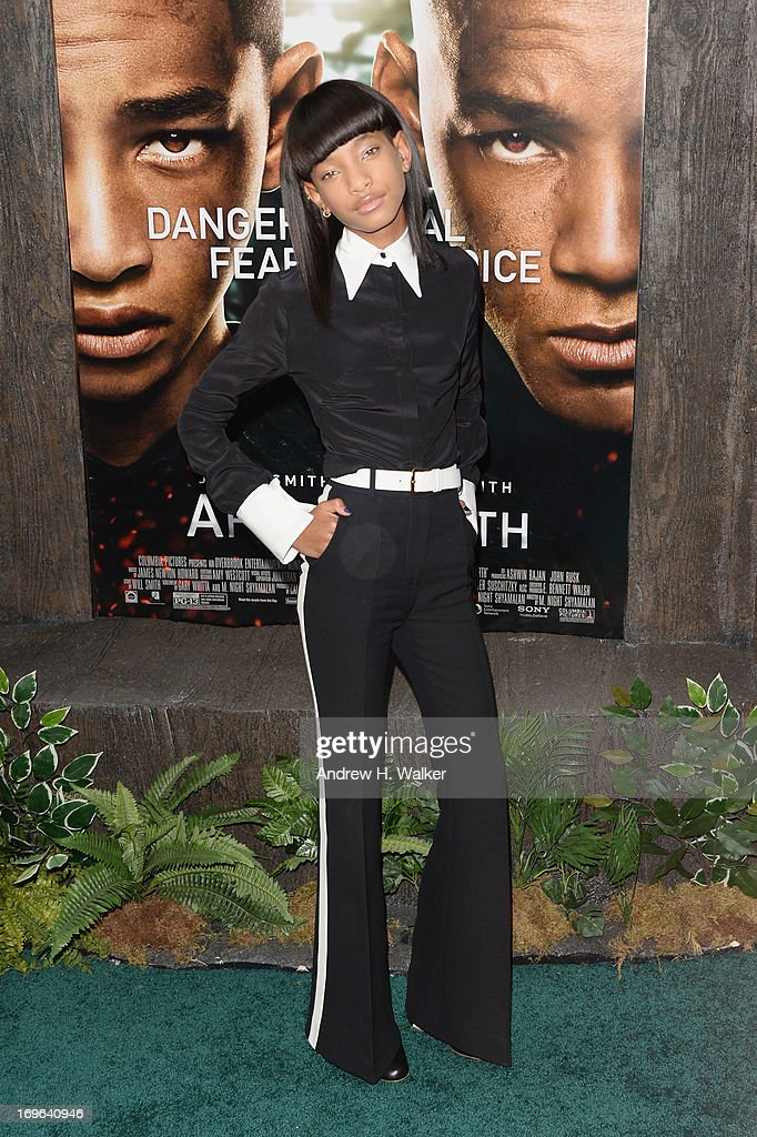 <a gi-track='captionPersonalityLinkClicked' href=/galleries/search?phrase=Willow+Smith&family=editorial&specificpeople=869488 ng-click='$event.stopPropagation()'>Willow Smith</a> attends the 'After Earth' premiere at Ziegfeld Theater on May 29, 2013 in New York City.