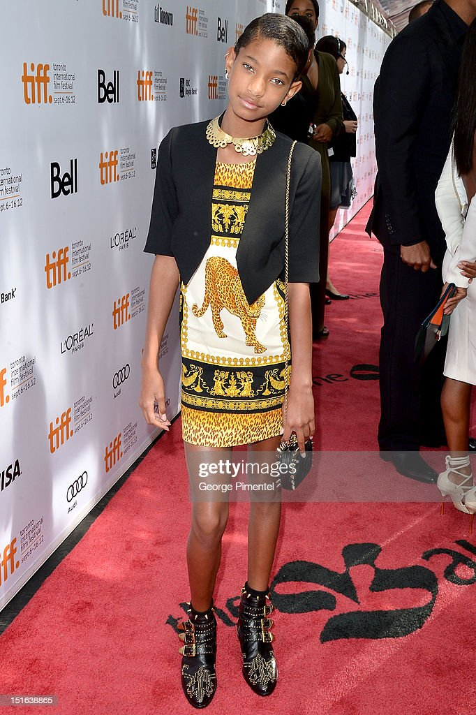 <a gi-track='captionPersonalityLinkClicked' href=/galleries/search?phrase=Willow+Smith&family=editorial&specificpeople=869488 ng-click='$event.stopPropagation()'>Willow Smith</a> attends the 'Free Angela & All Political Prisoners' premiere during the 2012 Toronto International Film Festival at Roy Thomson Hall on September 9, 2012 in Toronto, Canada.