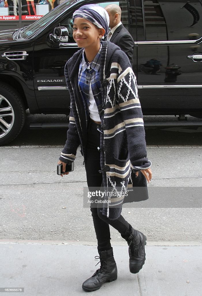 Willow Smith is seen in Soho on February 25, 2013 in New York City.