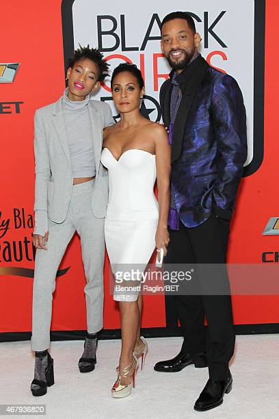Willow Smith Jada Pinkett Smith and Will Smith attend the BET's 'Black Girls Rock' Red Carpet sponsored by Chevrolet at NJPAC – Prudential Hall on...