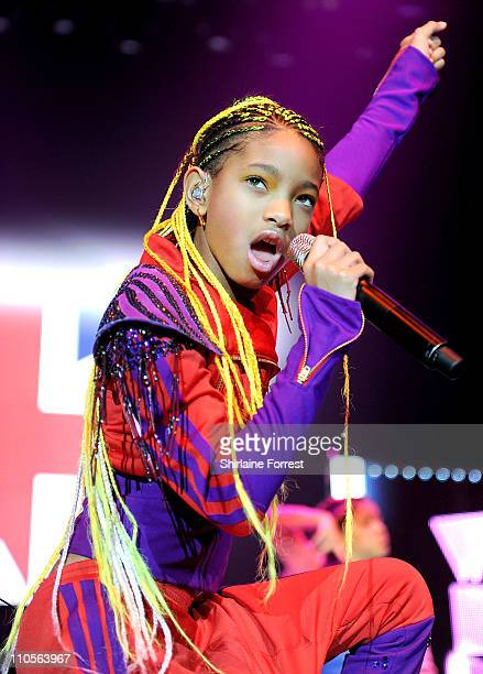Willow Smith performs at MEN Arena supporting Justin Beiber on March 21 2011 in Manchester England