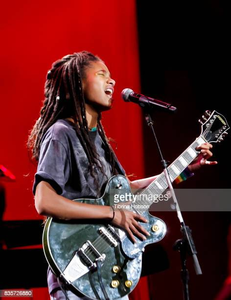 Willow Smith performs at NYX Professional Makeup's 6th annual FACE Awards at The Shrine Auditorium on August 19 2017 in Los Angeles California