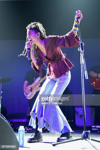 Willow Smith performs on stage at The Majestic Theater on November 14 2017 in Detroit Michigan
