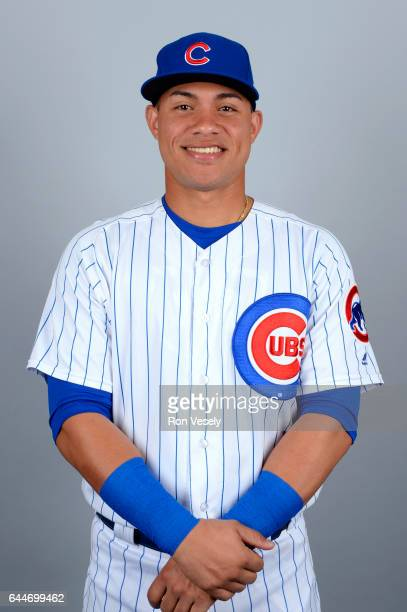 Willson Contreras of the Chicago Cubs poses during Photo Day on Tuesday February 21 2017 at Sloan Park in Mesa Arizona