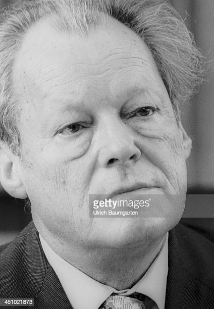 Willy Brandt during a press conference in Bonn on March 15 1979 in Bonn Germany