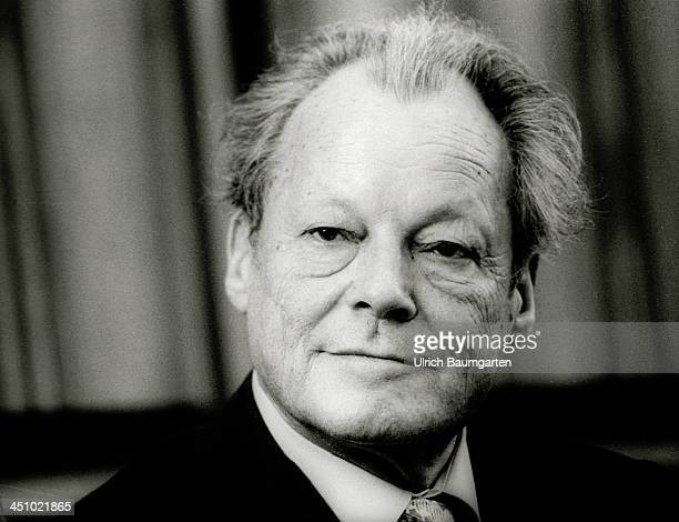 Willy Brandt during a press conference on March 15 1979 in Bonn Germany