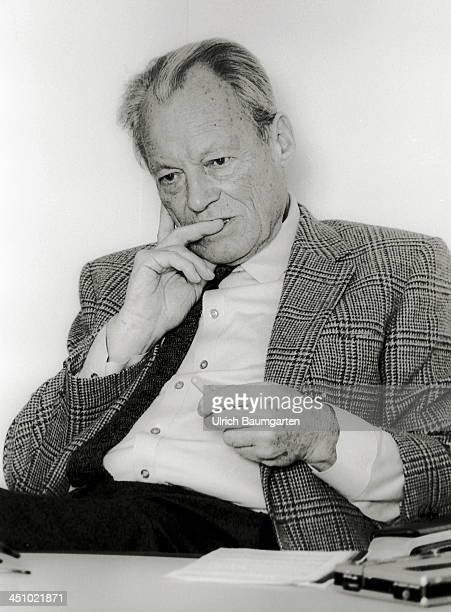 Willy Brandt during an interview on November 10 1983 in Bonn Germany