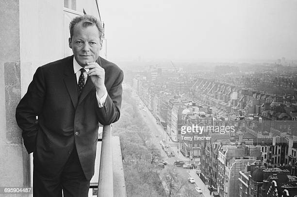 Willy Brandt mayor of West Berlin during a visit to London 24th April 1965