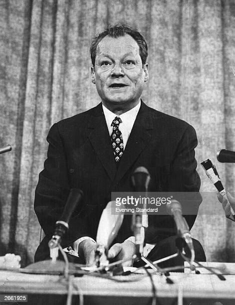 Willy Brandt West German politician and winner of the Nobel Prize for Peace in 1971 Original Publication People Disc HA0388