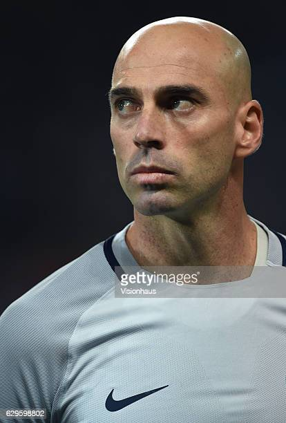 Willy Caballero of Manchester City before the UEFA Champions League match between Manchester City FC and Celtic FC at Etihad Stadium on December 6...