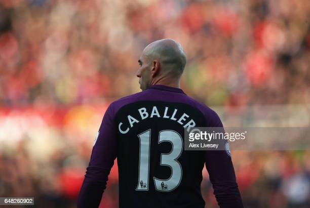 Willy Caballero of Manchester City looks on during the Premier League match between Sunderland and Manchester City at Stadium of Light on March 5...