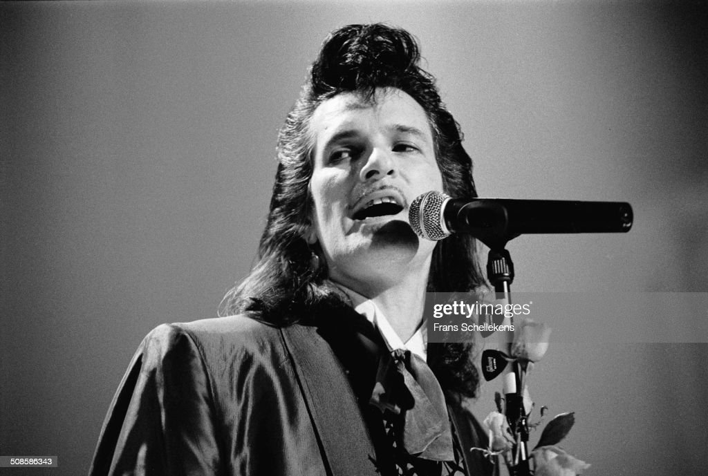 Willy DeVille, vocal, performs at the Heineken Festival at the Doelen in Rotterdam, Netherlands on 22nd October 1992.