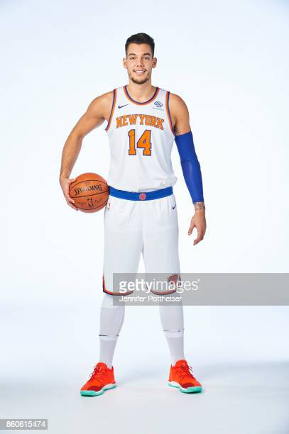 Willy Hernangomez of the New York Knicks poses for a portrait at the Knicks Practice Center on October 11 2017 in Tarrytown New York NOTE TO USER...