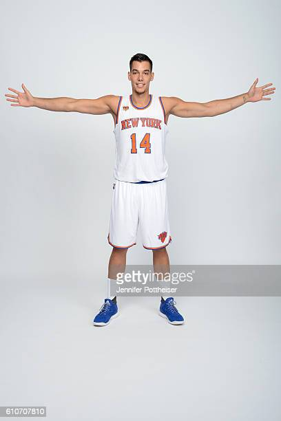Willy Hernangomez of the New York Knicks poses for a portrait during media day at the Ritz Carlton in White Plains New York on September 26 2016 NOTE...