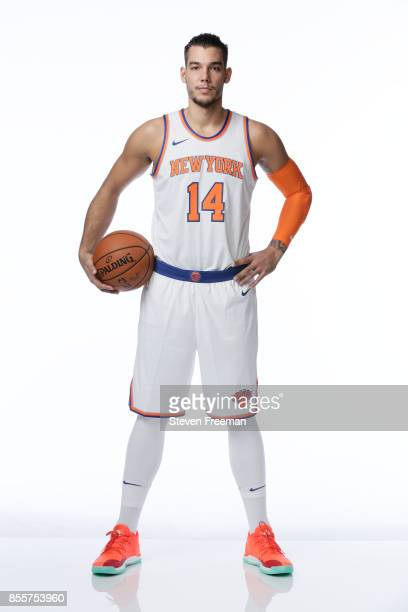 Willy Hernangomez of the New York Knicks poses for a portrait during Media Day on September 25 2017 at the Knicks Practice Center in Tarrytown New...