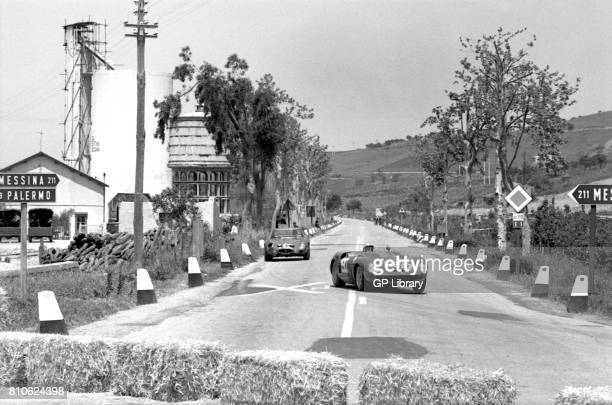 Willy Mairesse driving a Ferrari Dino 196SP at Targa Florio 2nd