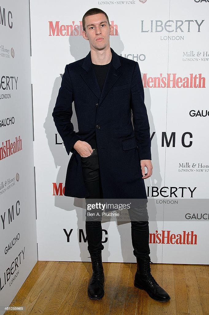 <a gi-track='captionPersonalityLinkClicked' href=/galleries/search?phrase=Willy+Moon&family=editorial&specificpeople=8870305 ng-click='$event.stopPropagation()'>Willy Moon</a> attends the Men's Health x Liberty x YMC party during The London Collections: Men Autumn/Winter 2014 on January 7, 2014 in London, England.
