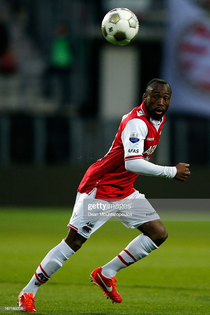Willy Overtoom of AZ in action during the Eredivisie match between AZ Alkmaar and PSV Eindhoven at the AFAS Stadium on April 20, 2013 in Alkmaar, Netherlands.