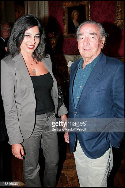 Willy Rizzo and his wife Dominique at Opening Exhibition Of Joy De Rohan Chabot 'Les Jardins Immobiles' At Musee Jacquemart Andre In Paris