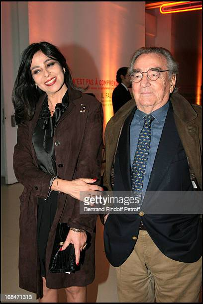 Willy Rizzo and wife Dominique at Preview of L'Atelier D'Alberto Giacometti At Centre Pompidou In Paris