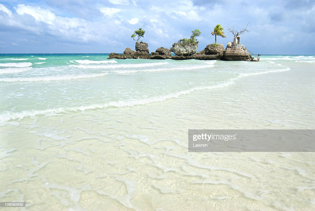 Willy rock in boracay : Stock Photo