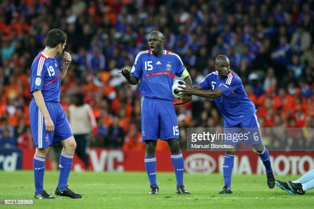 Willy SAGNOL / Lilian THURAM / Claude MAKELELE France / Pays Bas Euro 2008 Berne