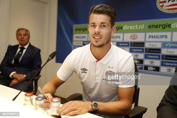 Willy van der Kuijlen of PSV Marco van Ginkel of PSV during the presentation of the new PSV players on July 21 2017 at Philips stadium in Eindhoven...