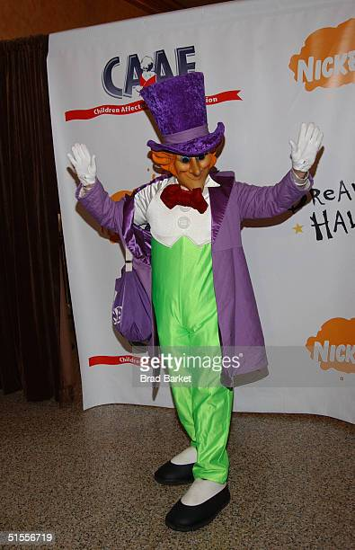 Willy Wonka arrives at the Annual Dream Halloween Fundraiser for Children with Aids at the Hammerstein Ballroom on October 24 2004 in New York City