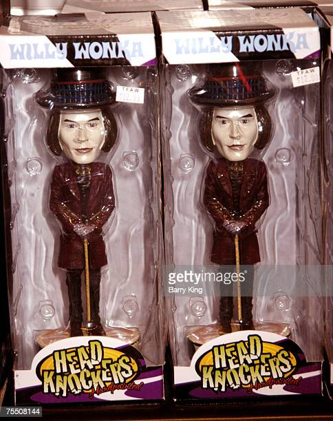 Willy Wonka dolls from Tim Burton's 'Charlie the Chocolate Factory' film in Los Angeles CA