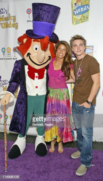 Willy Wonka Dylan Lauren and Jesse McCartney during Wonka Wacky FUNday with Jesse McCartney at Dylan's Candy Bar in New York City New York United...