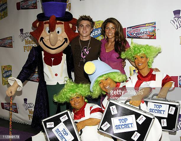 Willy Wonka Jesse McCartney and Dylan Lauren during Jesse McCartney and Willy Wonka Host 'Wonka's Wacky FUNDay' to Launch New SweeTARTS Squeez and...