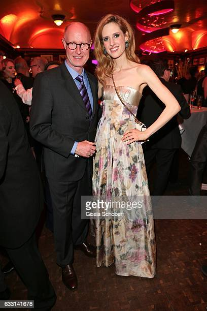 Wilma Elles and her father Dr Stephan Elles during the Lambertz Monday Night 2017 at Alter Wartesaal on January 30 2017 in Cologne Germany