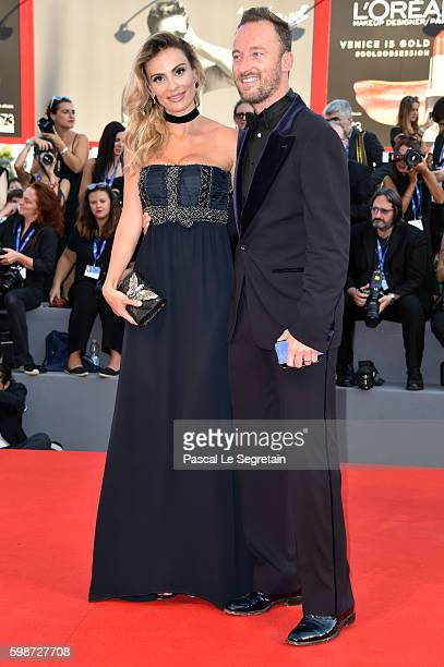 Wilma Helena Faissol and Francesco Facchinetti attend the premiere of 'Nocturnal Animals' during the 73rd Venice Film Festival at Sala Grande on...