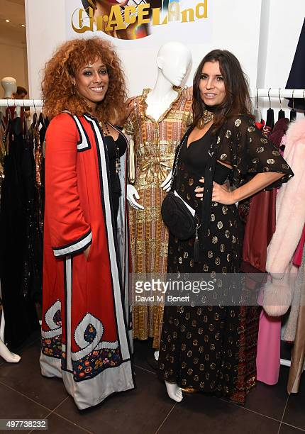 Wilma Mae Basta and Grace Woodward attend the launch of 'The Graceful Goddess' Portobello Road popup on November 18 2015 in London England