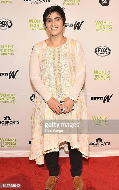 Wilma Rudolph Courage Award winner and Squash player Maria Toorpakai attends the 37th Annual Salute To Women In Sports Gala at Cipriani Wall Street...