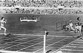 Wilma Rudolph of the USA winning her 200 metres heat in an Olympic record time of 232 seconds at the Rome Olympics she went on to win gold in the...